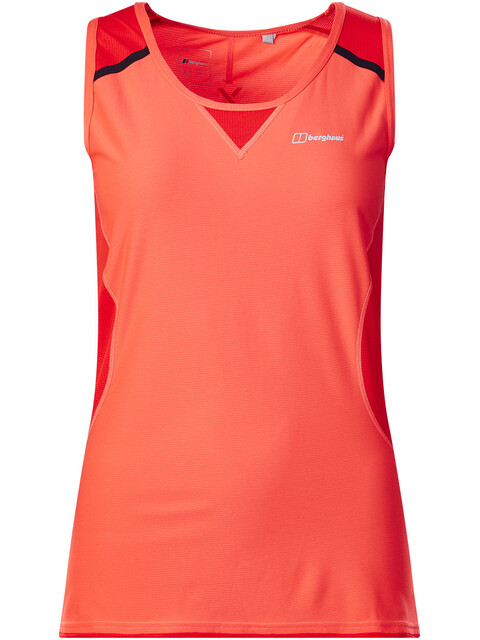 Berghaus Super Tech Tee Vest Baselayer Women Hot Coral/Volcano